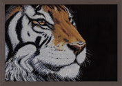 Design Works Crafts Counted Cross Stitch Kit, Orange Tiger