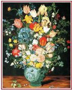 SEG de Paris Tapestry/Needlepoint Kit – The Blue Vase (Le vase Bleu) after J. Brueghel