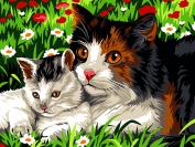 SEG de Paris Tapestry/Needlepoint Kit – Cat & Kitten