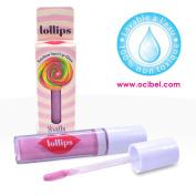 Ocibel – Lipstick Lip Gloss lollips Children, Rainbow, False Nails Manicure and Nail Art