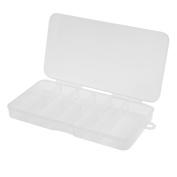 Domybest10 Grids Nail Art Tips Box Divided Empty Case Rhinestone Beads Jelwery Box Organiser Holder