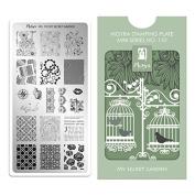 Moyra France Official Shop – Moyra Mini Stamping Plate 110 My Secret Garden