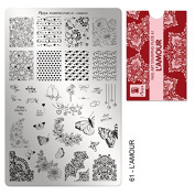 Moyra France Official Shop – Moyra Stamping Plate 61 Love