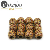 Urembo Gold Wooden Hair Beads Pendo – 12 pcs/Hair Beads Wooden Set of 12