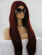 ATAYOU®Natural Looking Long Straight Dark Brown Lace Front Wigs for Women Daily Use + 1 Free Wig Cap