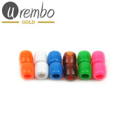 Urembo Gold Plastic Beads Assorted Multi coloured 12 Pcs Ponytail Extensions (Beads Plastic Set of 12