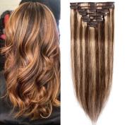 HotHair 46cm Human Hair Clip In Hair Extension100g Weight-4/27