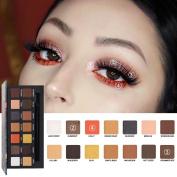 HKFV 2018 New Fashion Charming Stylish Colour Design 14 Colours Eyes Shadow Set, Makeup Pearl Metallic Eyeshadow Palette Eyes Makeup Decor