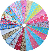 Grannycrafts 24pcs 20x30cm Top Cotton Printed Craft Fabric Bundle Squares Patchwork Lint Print Cloth Fabric Tissue DIY Sewing Scrapbooking Quilting Love Series