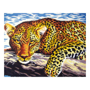 Collection D'Art Tapestry Kit Leopard, 100% Cotton, Multi-Colour, 38 x 25 x 0.5 cm