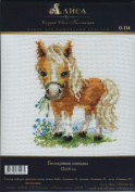'Pony' cross stitch embroidery kit for children/Beginners 12 x 14 cm