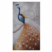 QIYUN.Z Cross Stitch 5D Embroidery Peacock Paintings DIY Handmade Round Diamond Embroidery Painting Rhinestone Cross-Stitching Set Mosaic Home Room Decoration45*28cm