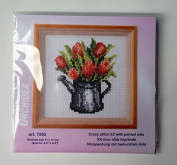 Orchidea Embroidery Cross Stitch Tulips Preprinted Frameless 7592