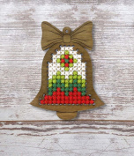 Bell Plywood Christmas Ornament Cross Stitch Kit