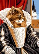 SEG de Paris Tapestry/Needlepoint Kit – Queen Cat
