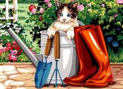 SEG de Paris Tapestry/Needlepoint Kit – Puss & Boots