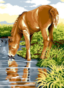 SEG de Paris Tapestry/Needlepoint Kit – The Reflection of the Foal
