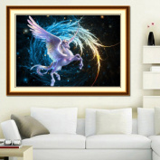 Moresave Flying Horse Wing Star Sky Diamond Painting Home Decoration DIY Cube Diamond