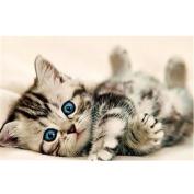 Kingko® DIY 5D Painting Cross Stitch Cat & Tiger, Butterfly Flowers, Angel Girl, Swan Sticker Couple Rhinestone Diamond Embroidery Painting Cross Stitch Home Decor Craft