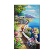 AIHOME Scenery DIY Handmade Full Drill Diamond Painting Set Resin Rhinestone Pasted Cross Stitch