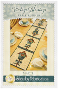 Shabby Fabrics SFA48658 Vintage Blessings March Table Runner Pattern