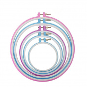 Tenn Well Embroidery Hoops, 5 Pack Plastic Cross Stitch Hoop Ring Set for DIY Art Craft Handy Sewing, 5 Sizes