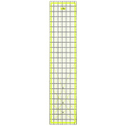 Quilting Ruler Acrylic Ruler Transparent - Imperial 60cm x 17cm with 2 sides Metal Edges