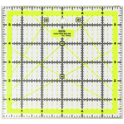 Quilting Ruler Acrylic Ruler Transparent - Imperial 15cm x 15cm with 4 sides Metal Edges