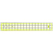 Quilting Ruler Acrylic Ruler Transparent - Imperial 7.6cm x 46cm with 2 sides Metal Edges