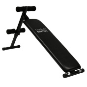 Charles Bentley Adjustable Foldable Exercise Abdominal Sit Up Bench Crunch Workout- Black Or Red