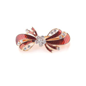 Bobury Crystal Rhinestone Bow Hair Clip Girl Hairpin Women Barrette Head Ornaments Bowknot Rhinestone Hairpin