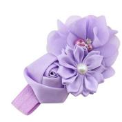 Wokee Creative Colourful Baby Girl Flower Pearl Flower Hair Band Headband Hairband Hair Accessories