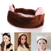 SF- World Cute Girls Womens Cat Ears Hairband Head Band Gift Headdress Hair Accessories Makeup Tools