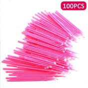 PetHot 100 Pcs Swab Micro Brush Disposable Microbrush Applicator Eyelash Extensions Makeup