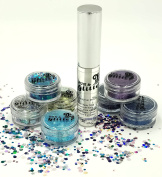 Clear Glitter Fix Gel (8ml bottle) with applicator for fixing loose glitter