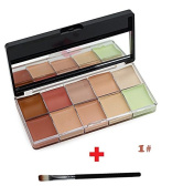 High Quality 10 Colour Kiss Beauty Face Makeup Concealer Foundation Correction Cream Contour Highlight