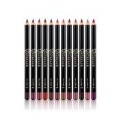 Profusion Circle 12pcs/Set Waterproof Long Lasting Lipliner Lip Pencil