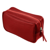 Lucrin-Small Toiletry Bag-Textured Leather