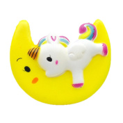 11CM Cute Moon Sleeping pony Toy,Mamum Enormous Moon Unicorn Scented Squishy Charm Slow Rising Simulation Kid Toy