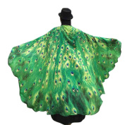 Chiffon Butterfly Wings Kanpola Womens Shawl Scarves Ladies Nymph Pixie Poncho Dancing Costume Accessory