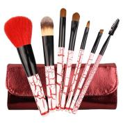 SMILEQ Professional 7 Pcs Brushes Bag Kit Portable Cosmetic Makeup Brush Blusher Eye Shadow Brushes Bag