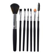 SMILEQ Professional 7 Pcs Brushes Kit Silicone Makeup Brush Eyeshadow Cosmetics Blending Brush Tool