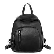 Domybest Women Mini PU Leather Backpack Shoulder Bags Classic Black Casual Travel School Bag