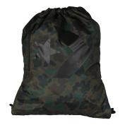Converse Unisex Gym Bags Sport Leisure Bags Gym Bag Cinch Camo Black