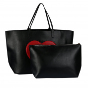 Mumustar Faux PU Leather Tote Hobos Women Ladies Shoulder Bag Large Handbag Organiser Insert Small Clutches Bags Purse