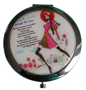 Women's Compact Mirror/Magnified/Travel/Magnifying Make-Up Mirror - Travel Mirror/ Two sided Mirror - Woman in Town