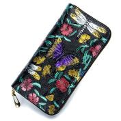 MuLier Women's Leather Wallets Credit Card Cash Holder Clutch Designer Rose Women Wallet