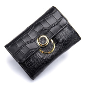 MuLier Soft Leather Bifold Wallet With ID Window Card Sleeve Coin Purse