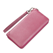 MuLier Women Wallet Ladies Purse Clutch Wallet Card Holdr Organiser Large Capacity With Wrist Strap