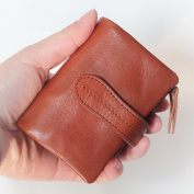 MuLier Women's Full Grain Leather Small Compact Tri-fold Leather Pocket Wallet Ladies Mini Purse